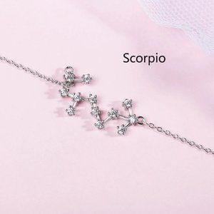 NEW 925 Sterling Silver Zodiac Bracelet-Scorpio